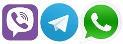 viber whatsup telegram